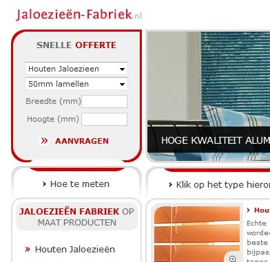 Website which sells blinds in the NL. Click for more info
